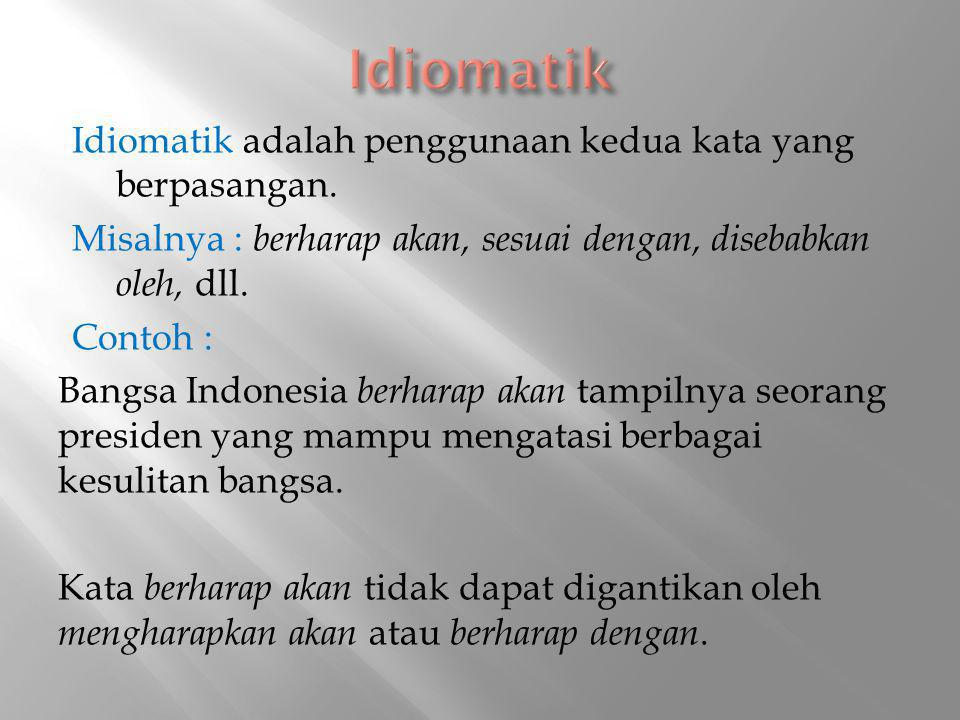 Idiomatik