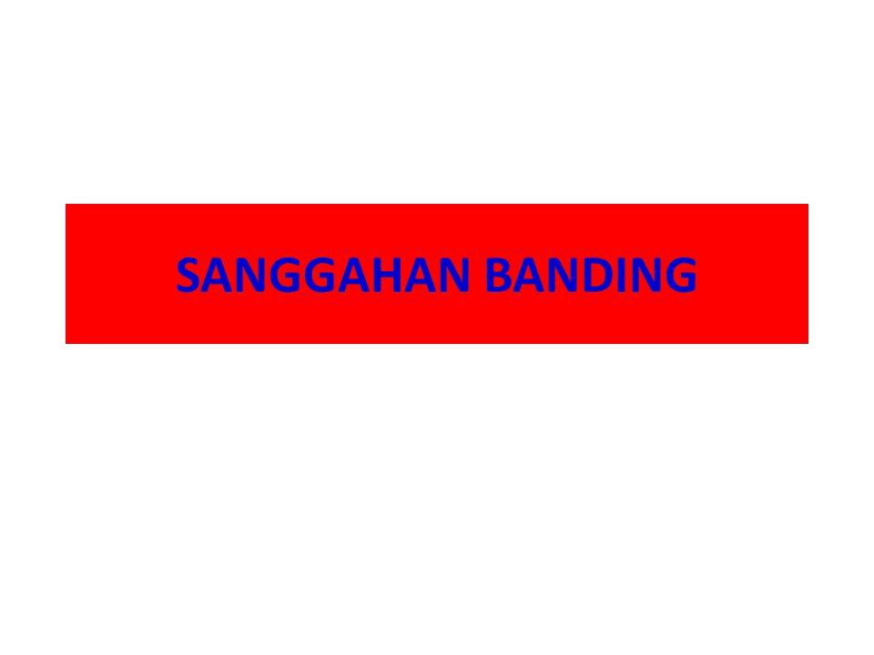 SANGGAHAN BANDING