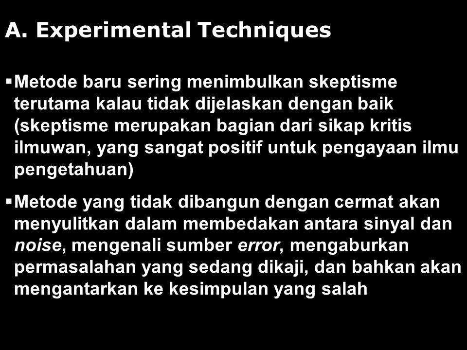 A. Experimental Techniques