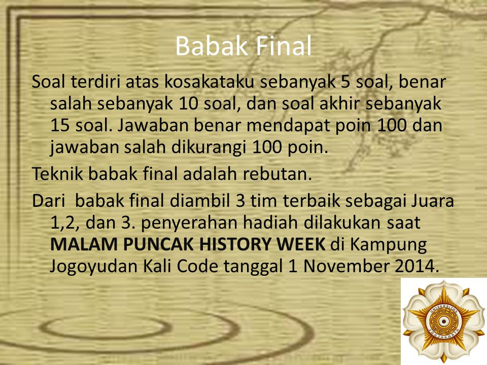 Babak Final