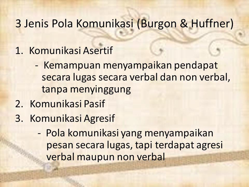 3 Jenis Pola Komunikasi (Burgon & Huffner)