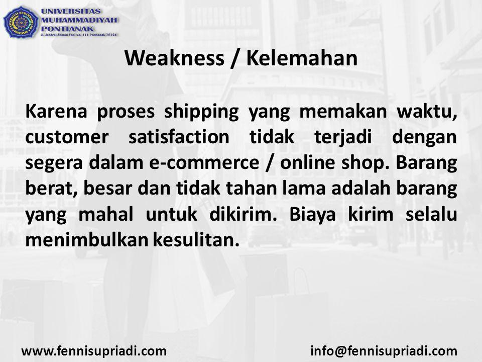 Weakness / Kelemahan