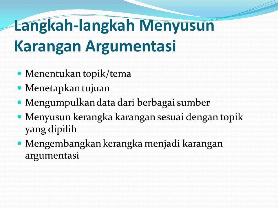 Langkah-langkah Menyusun Karangan Argumentasi
