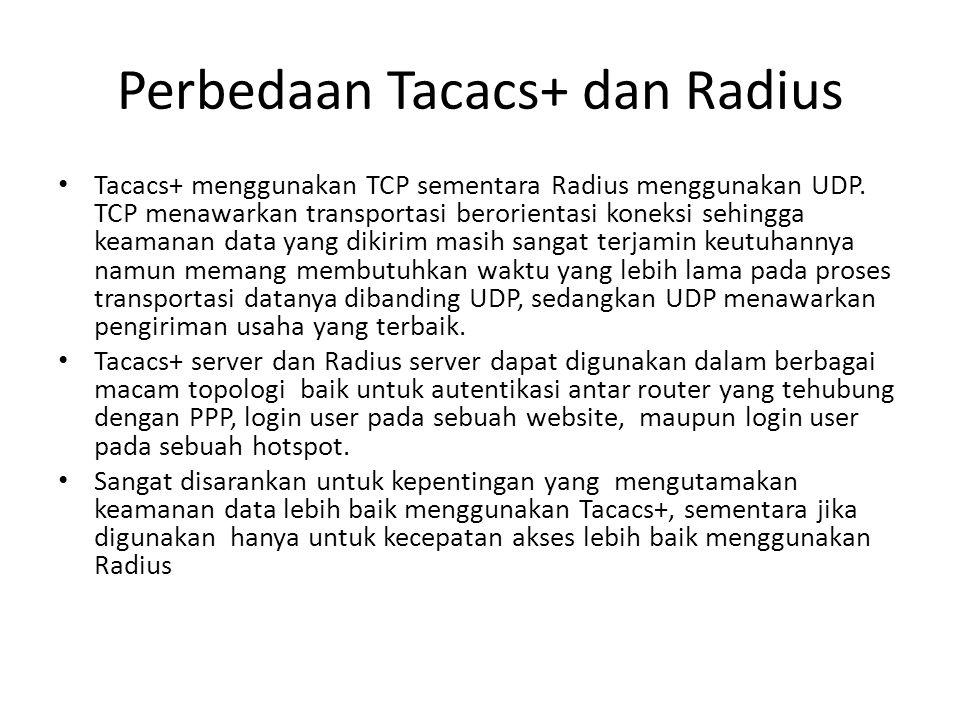 Perbedaan Tacacs+ dan Radius