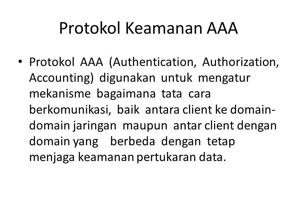 Protokol Keamanan AAA