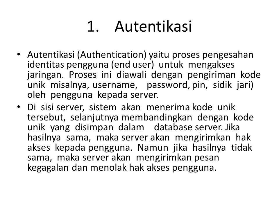 1. Autentikasi