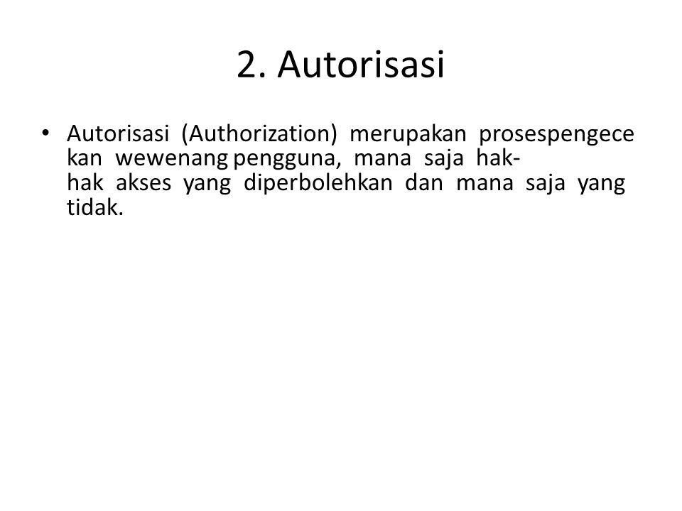 2. Autorisasi
