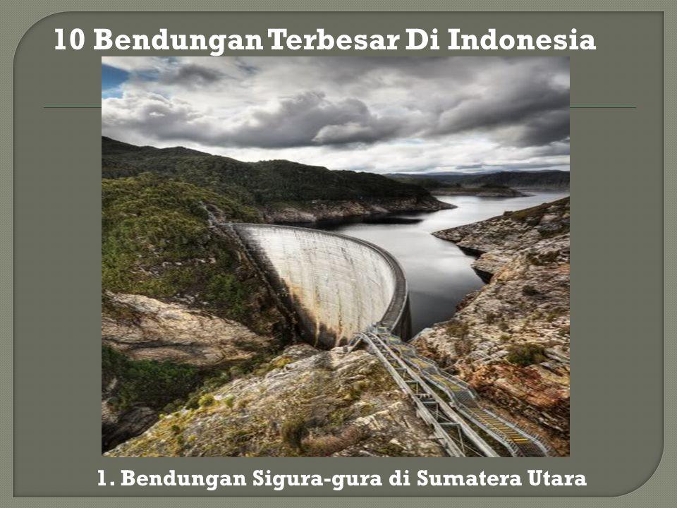 1. Bendungan Sigura-gura di Sumatera Utara