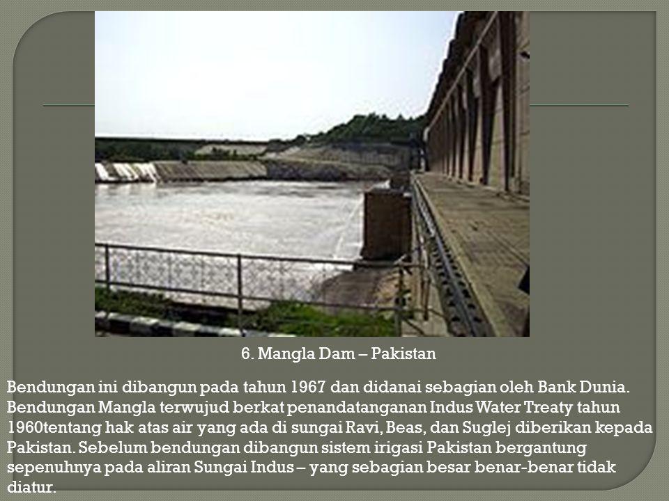 6. Mangla Dam – Pakistan