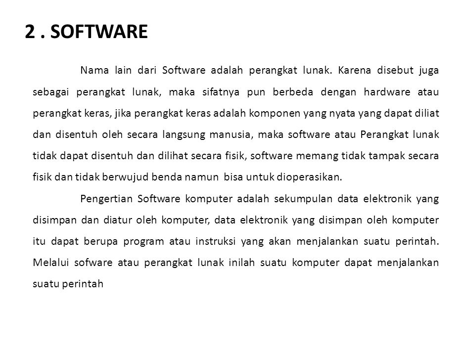 2 . SOFTWARE