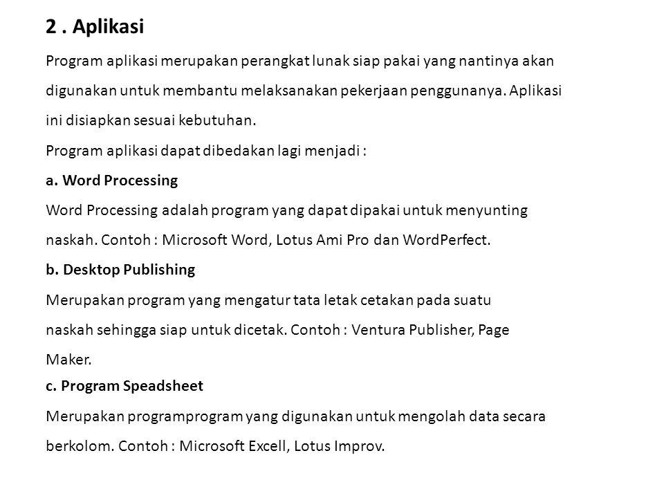2 . Aplikasi