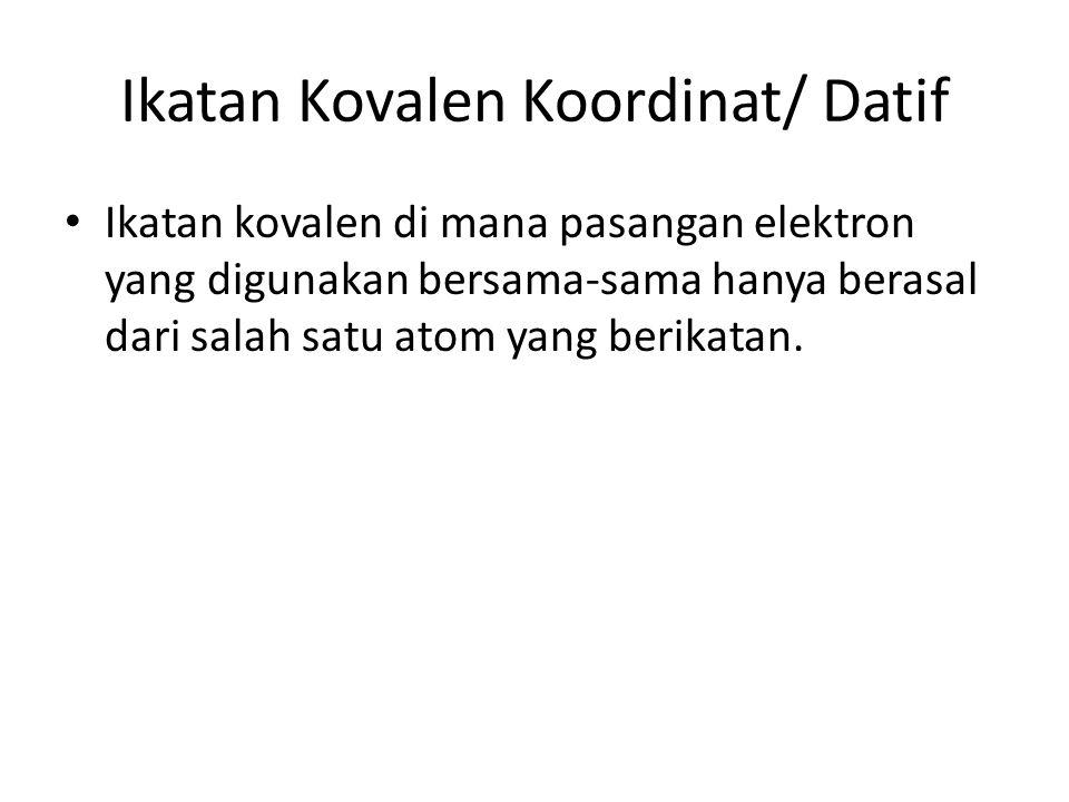 Ikatan Kovalen Koordinat/ Datif