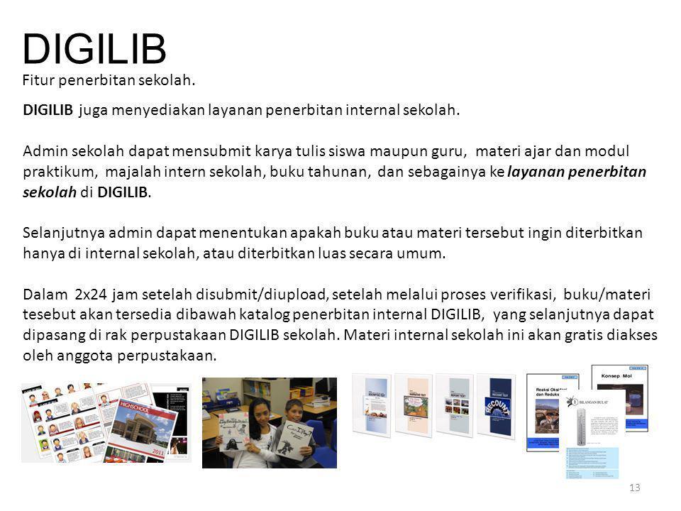 Fitur penerbitan sekolah.