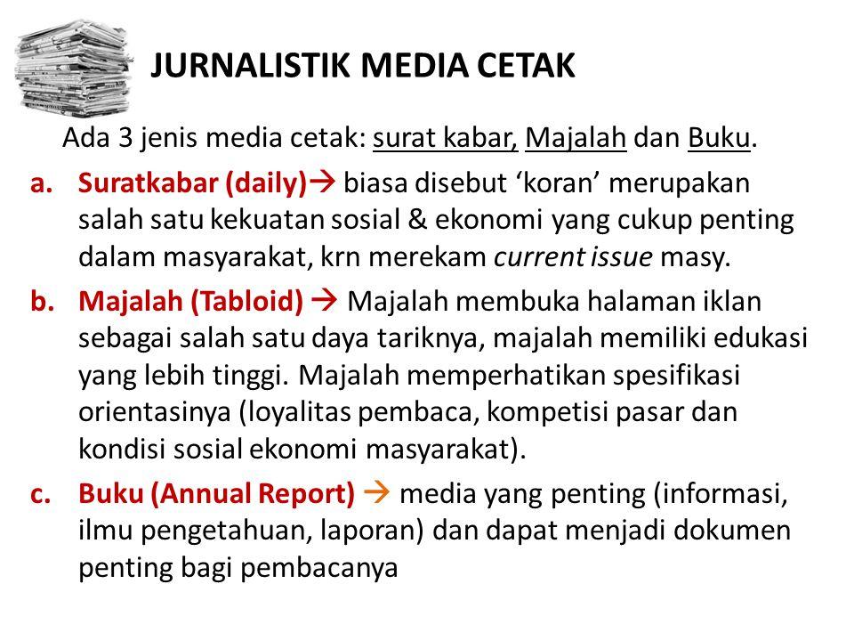 JURNALISTIK MEDIA CETAK