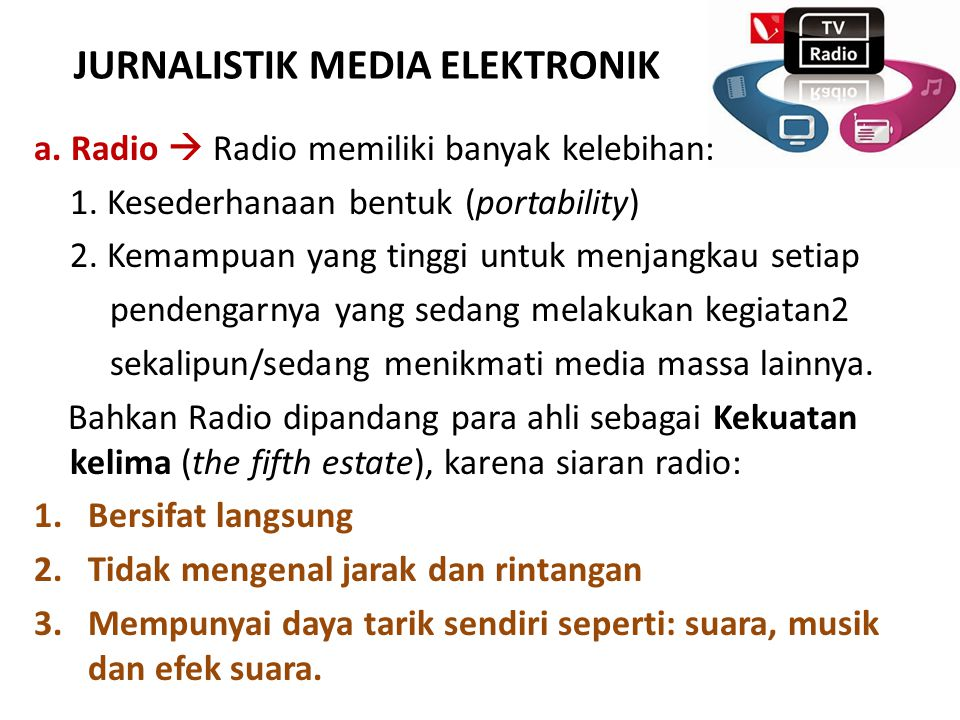 JURNALISTIK MEDIA ELEKTRONIK