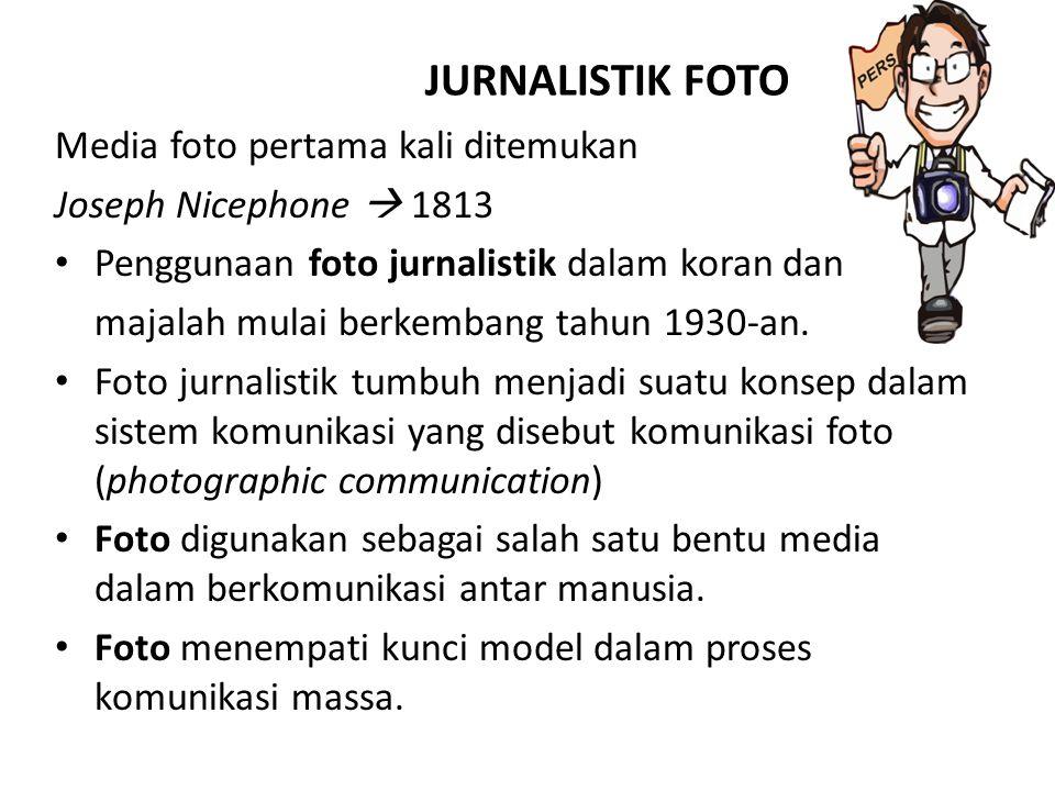 JURNALISTIK FOTO Media foto pertama kali ditemukan