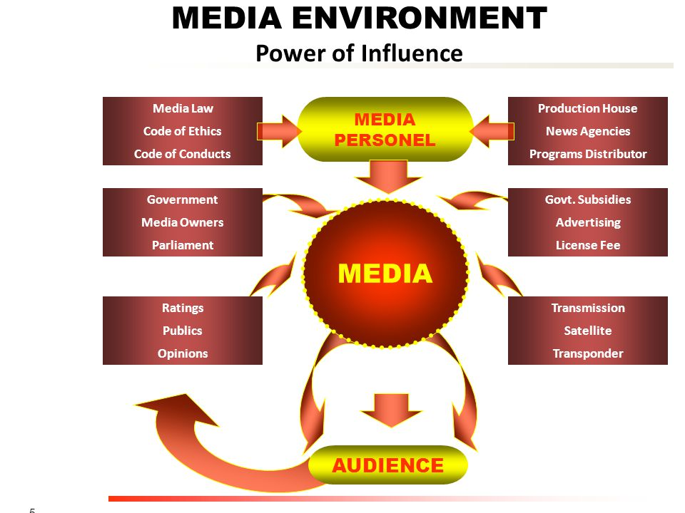 MEDIA ENVIRONMENT Power of Influence