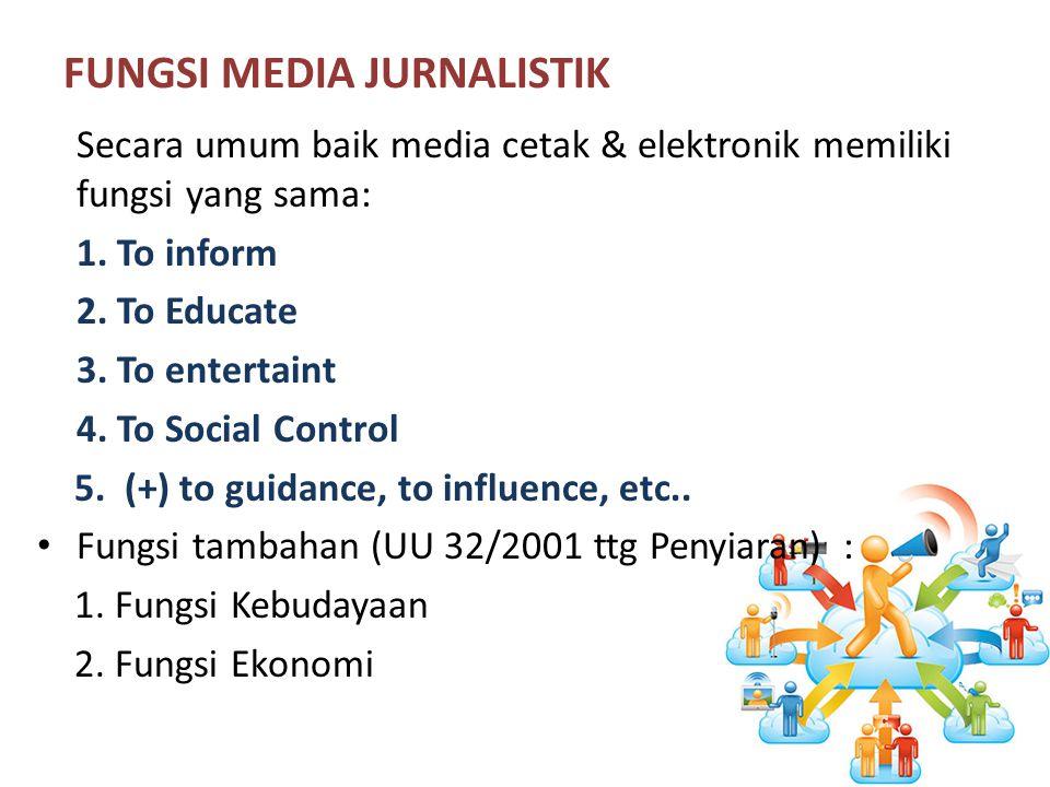 FUNGSI MEDIA JURNALISTIK