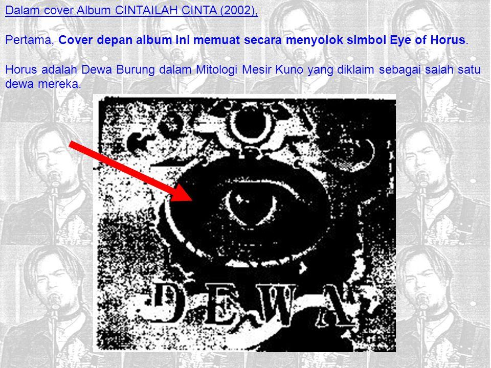 Dalam cover Album CINTAILAH CINTA (2002),