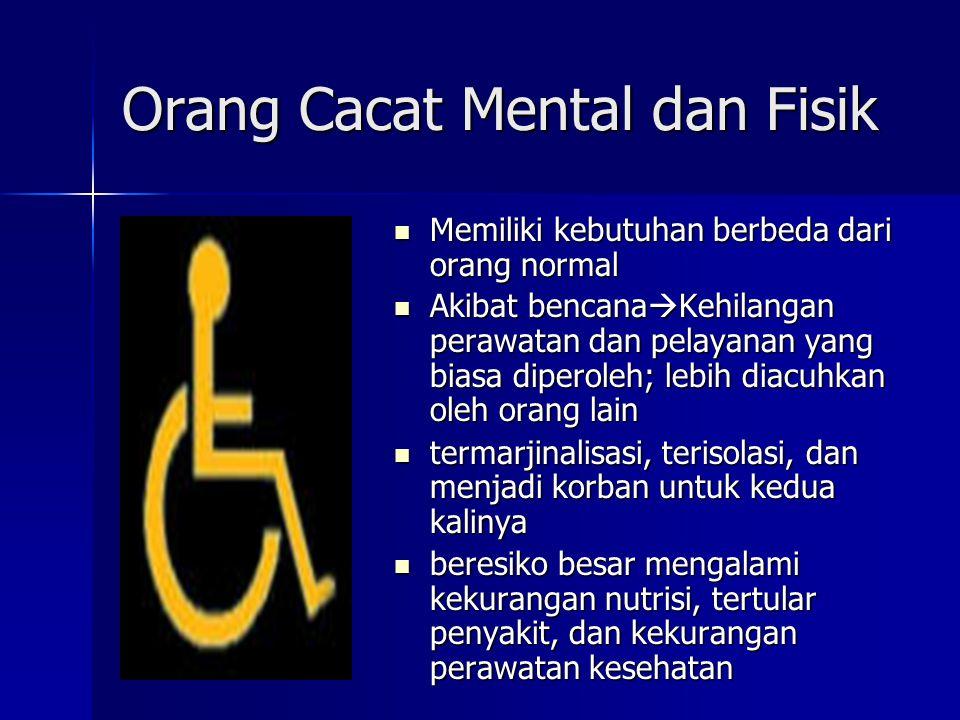 Orang Cacat Mental dan Fisik