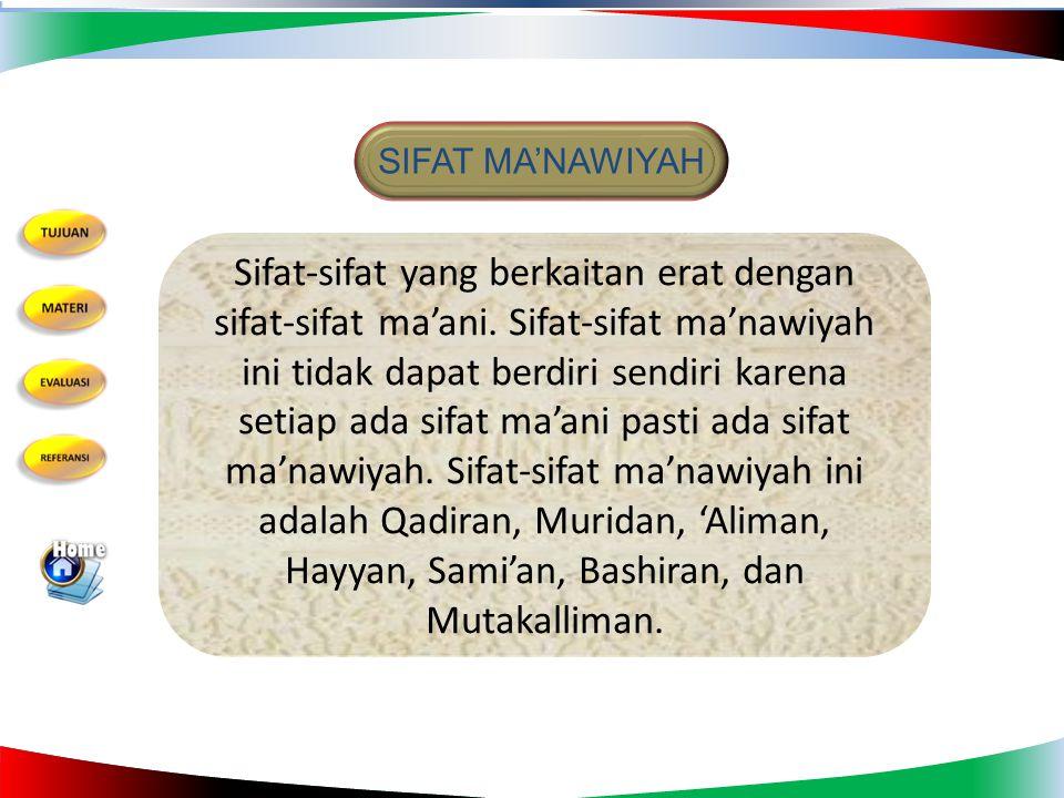 SIFAT MA'NAWIYAH