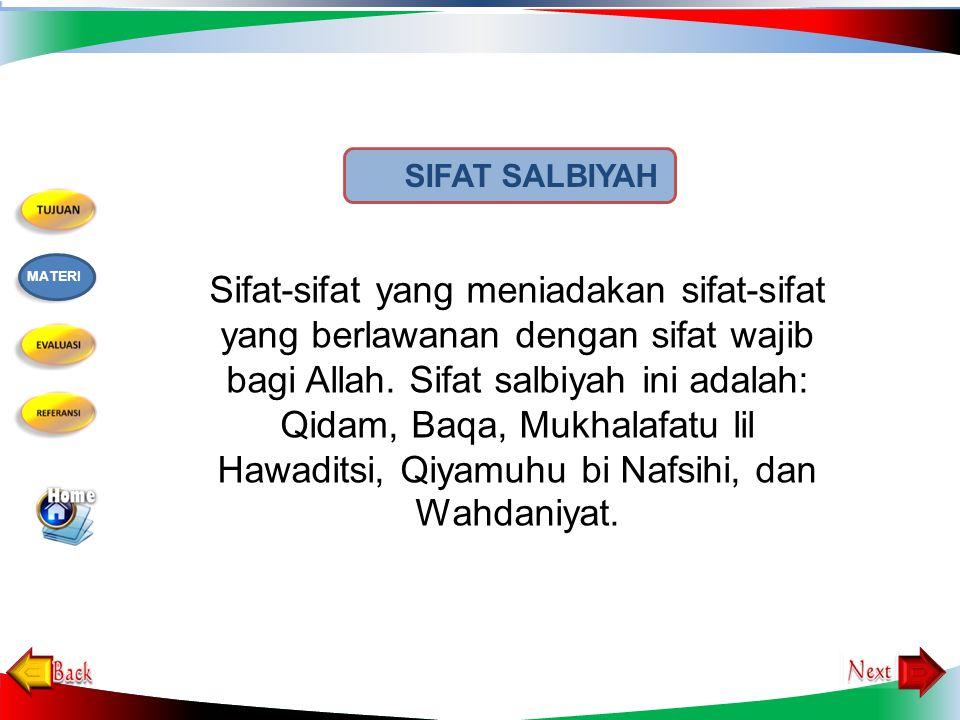 SIFAT SALBIYAH MATERI.