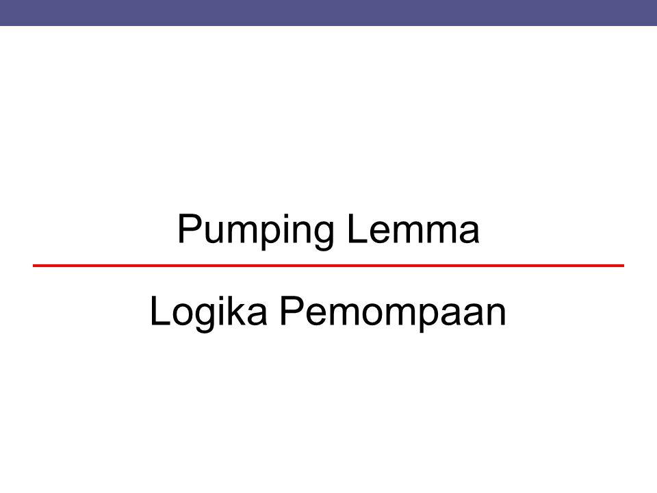 Pumping Lemma Logika Pemompaan