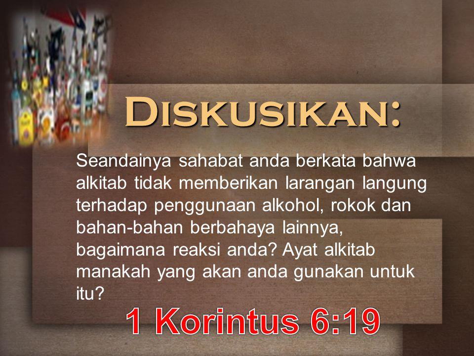 Diskusikan: 1 Korintus 6:19