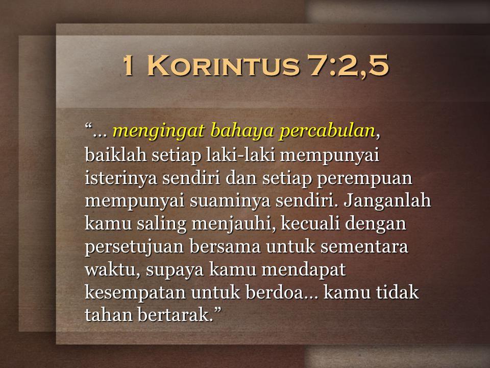 1 Korintus 7:2,5