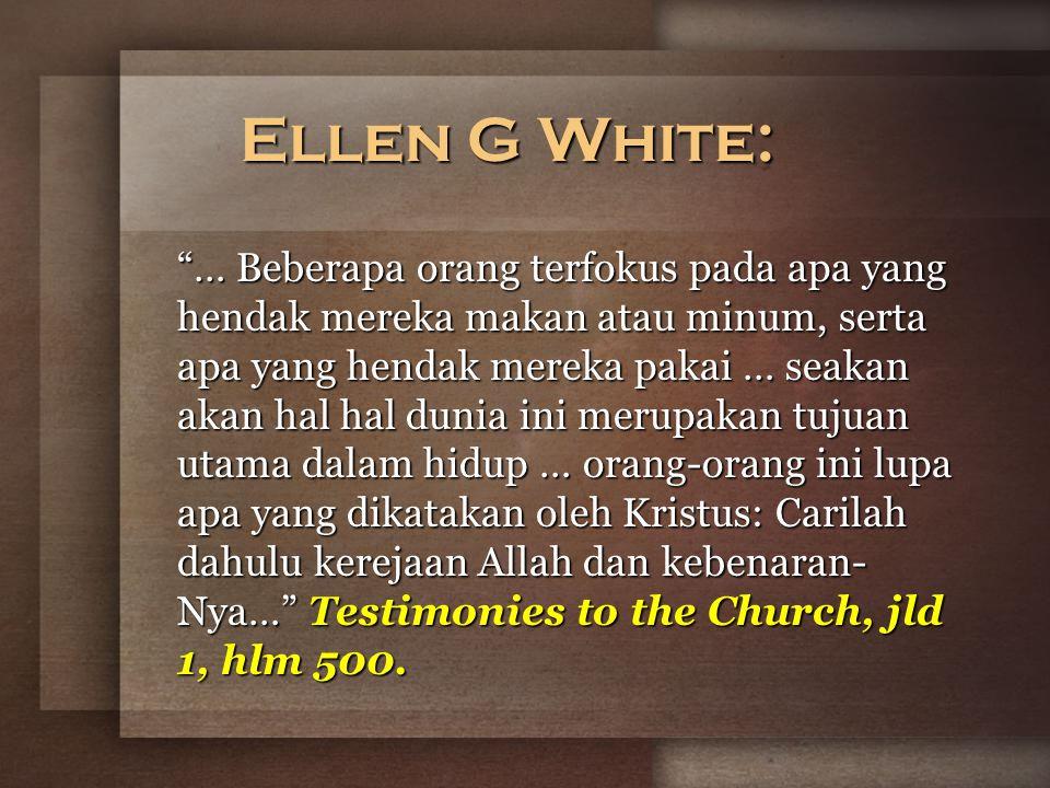 Ellen G White: