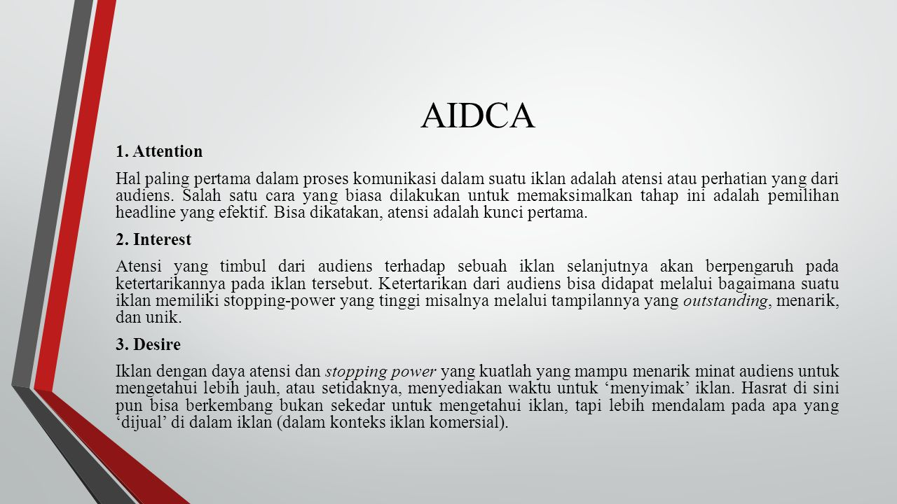 AIDCA 1. Attention