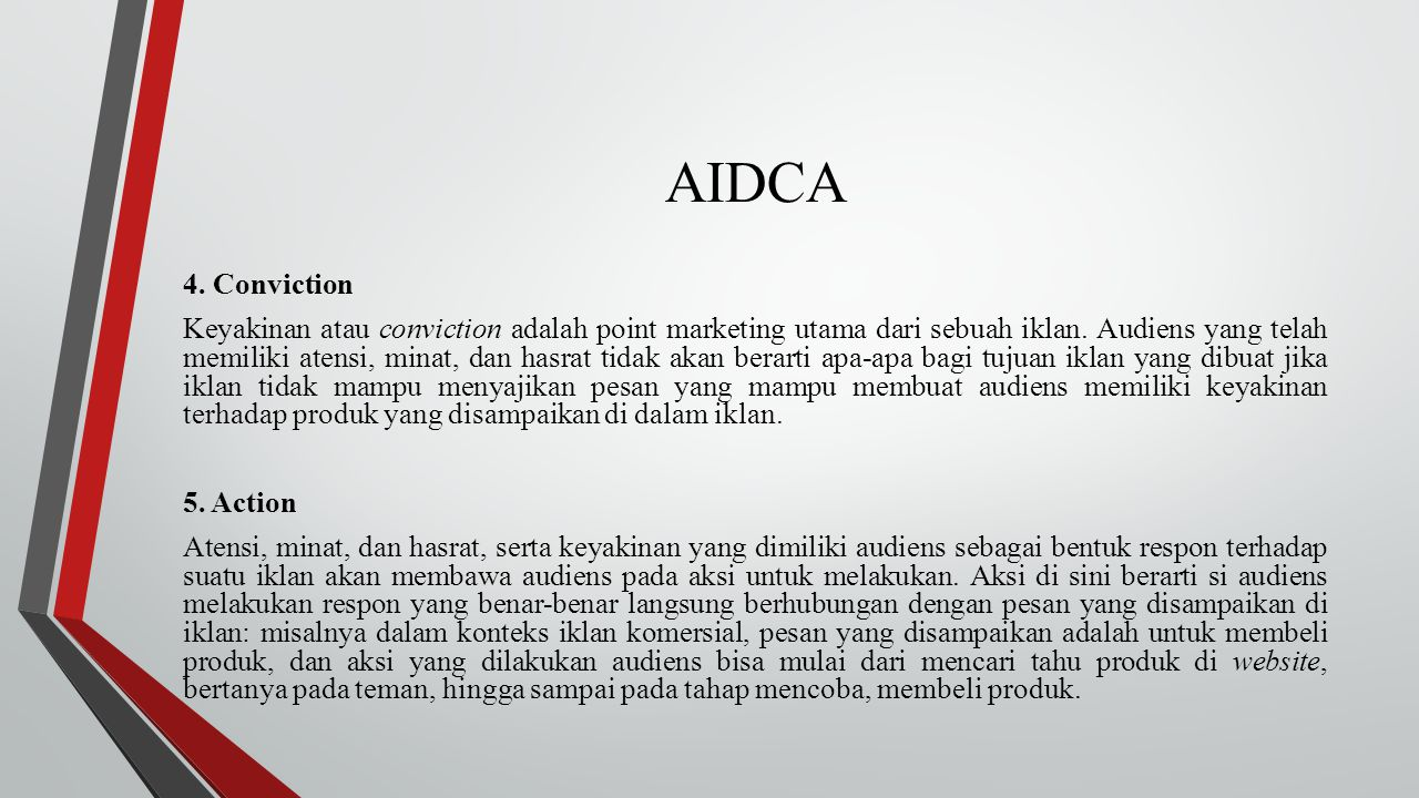 AIDCA 4. Conviction