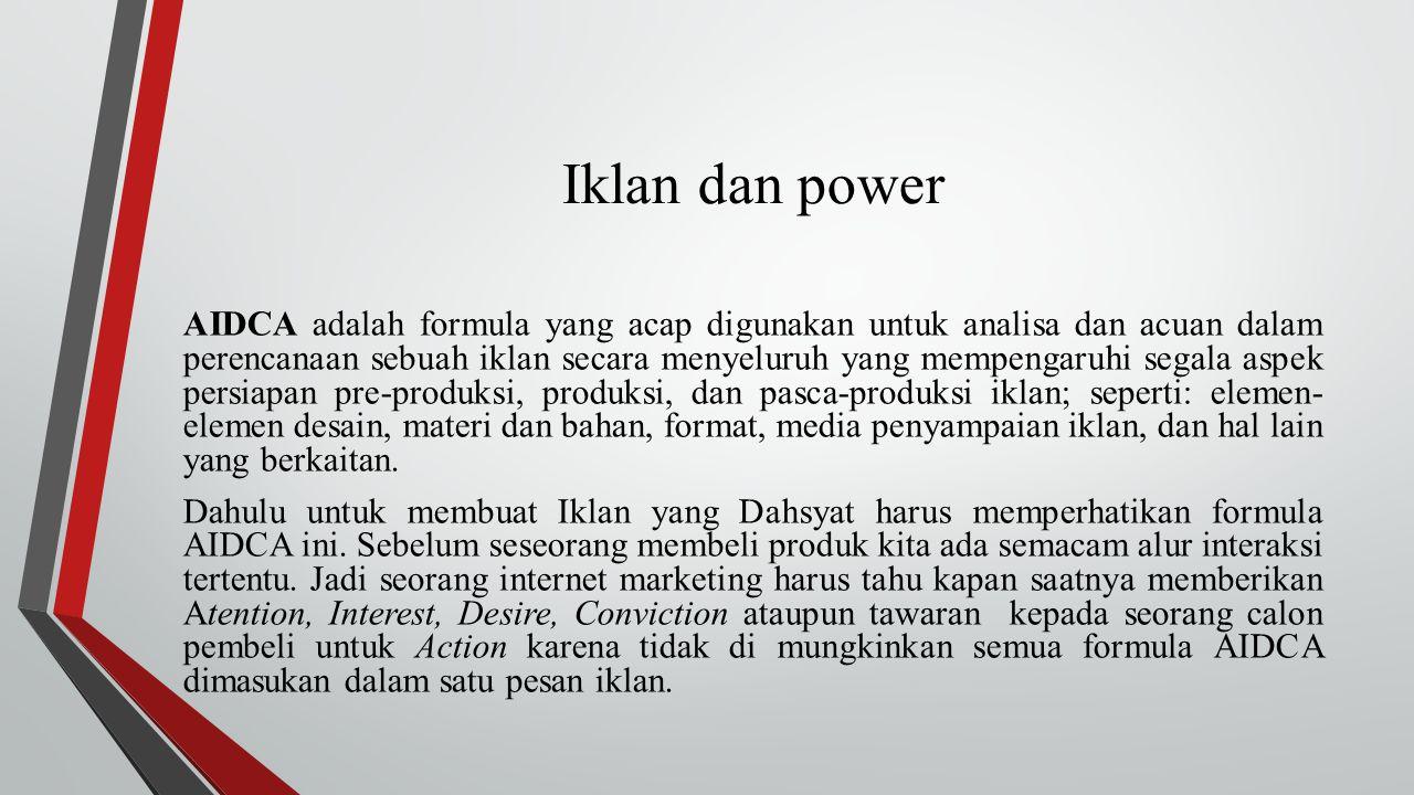 Iklan dan power