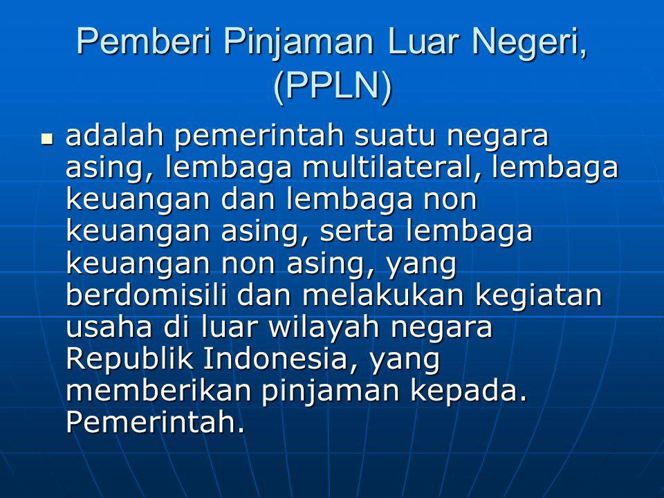 Pemberi Pinjaman Luar Negeri, (PPLN)