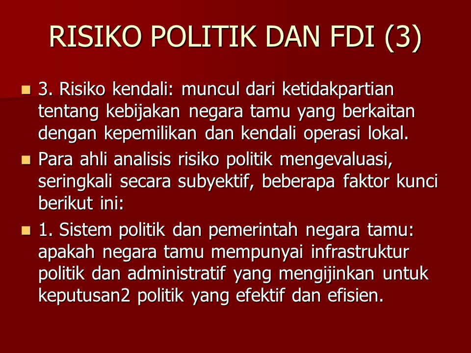 RISIKO POLITIK DAN FDI (3)