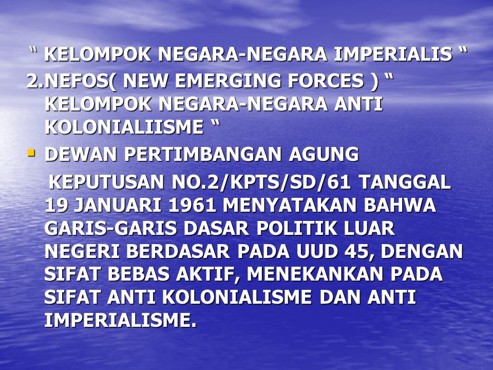 KELOMPOK NEGARA-NEGARA IMPERIALIS