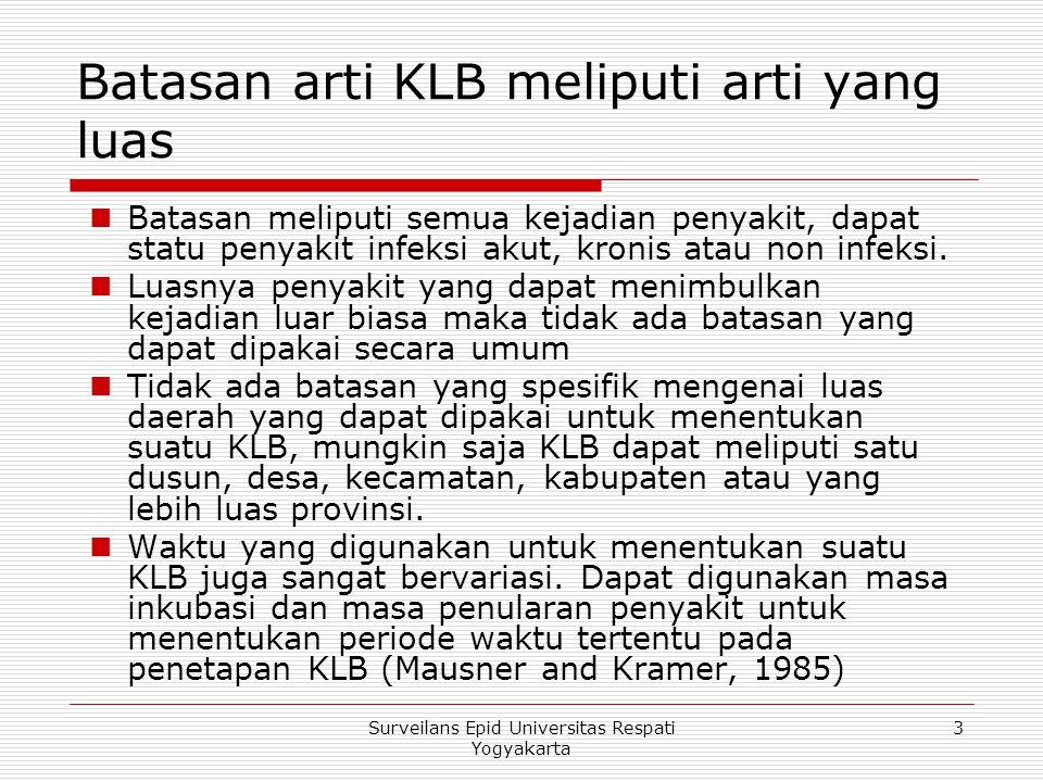 Batasan arti KLB meliputi arti yang luas