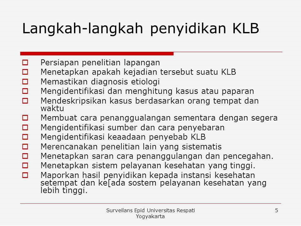Langkah-langkah penyidikan KLB