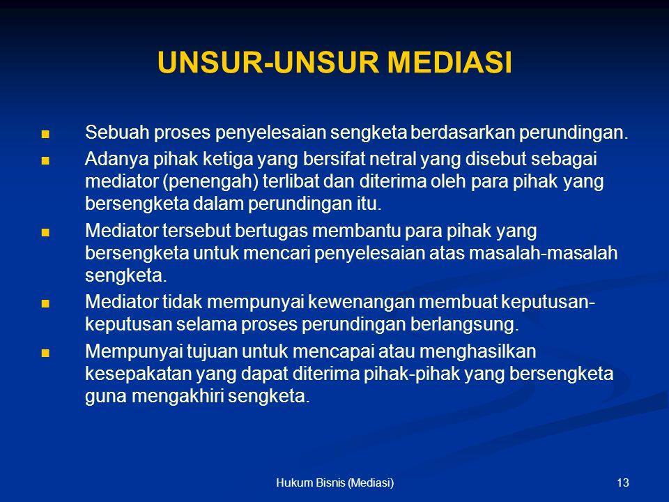 Hukum Bisnis (Mediasi)