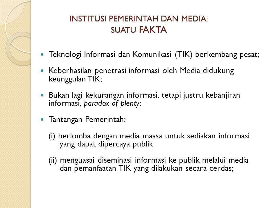 INSTITUSI PEMERINTAH DAN MEDIA: SUATU FAKTA