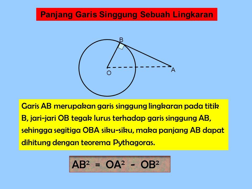 Panjang Garis Singgung Sebuah Lingkaran