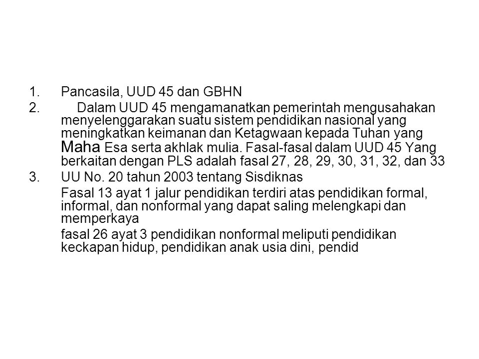 Pancasila, UUD 45 dan GBHN