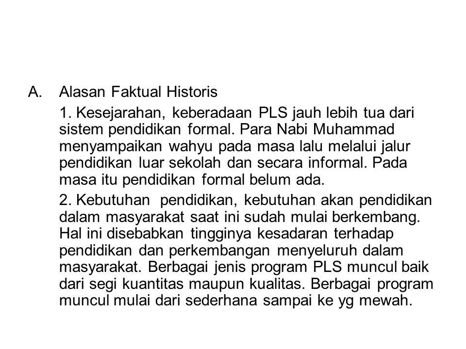 Alasan Faktual Historis
