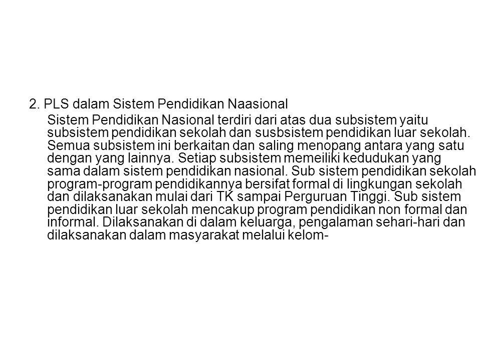 2. PLS dalam Sistem Pendidikan Naasional