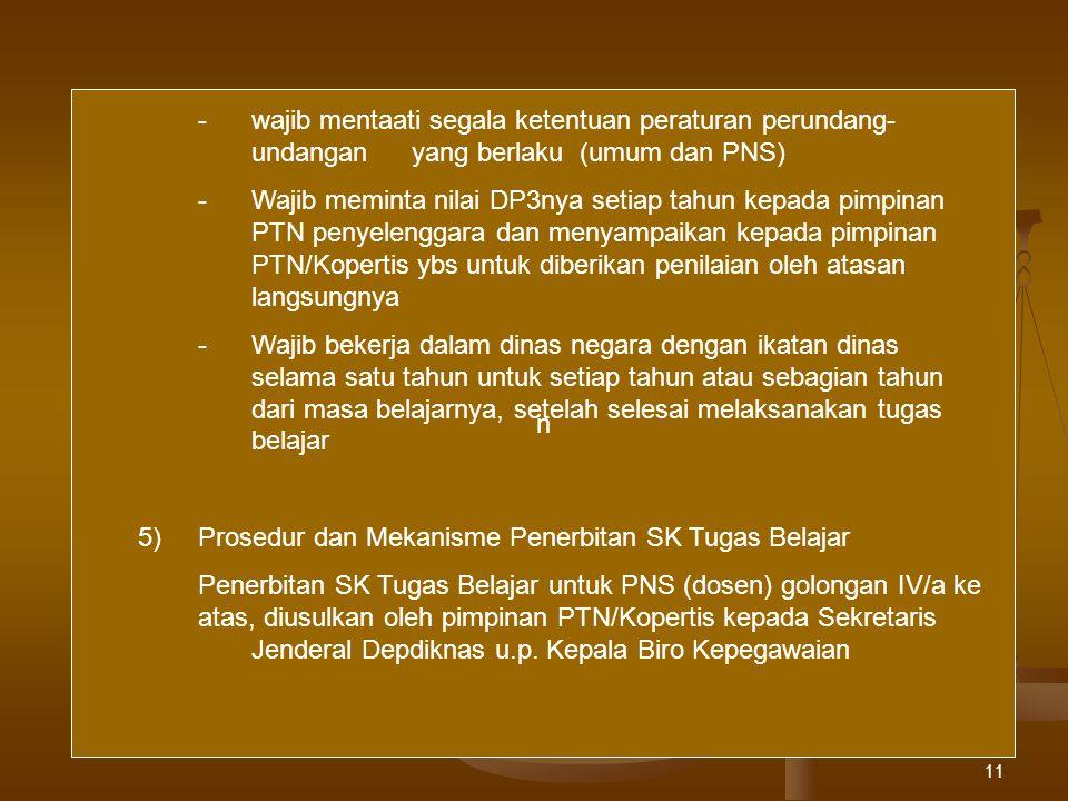 n - wajib mentaati segala ketentuan peraturan perundang- undangan yang berlaku (umum dan PNS)