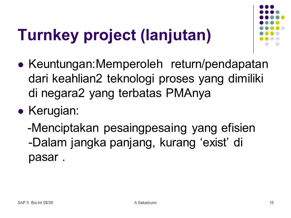 Turnkey project (lanjutan)