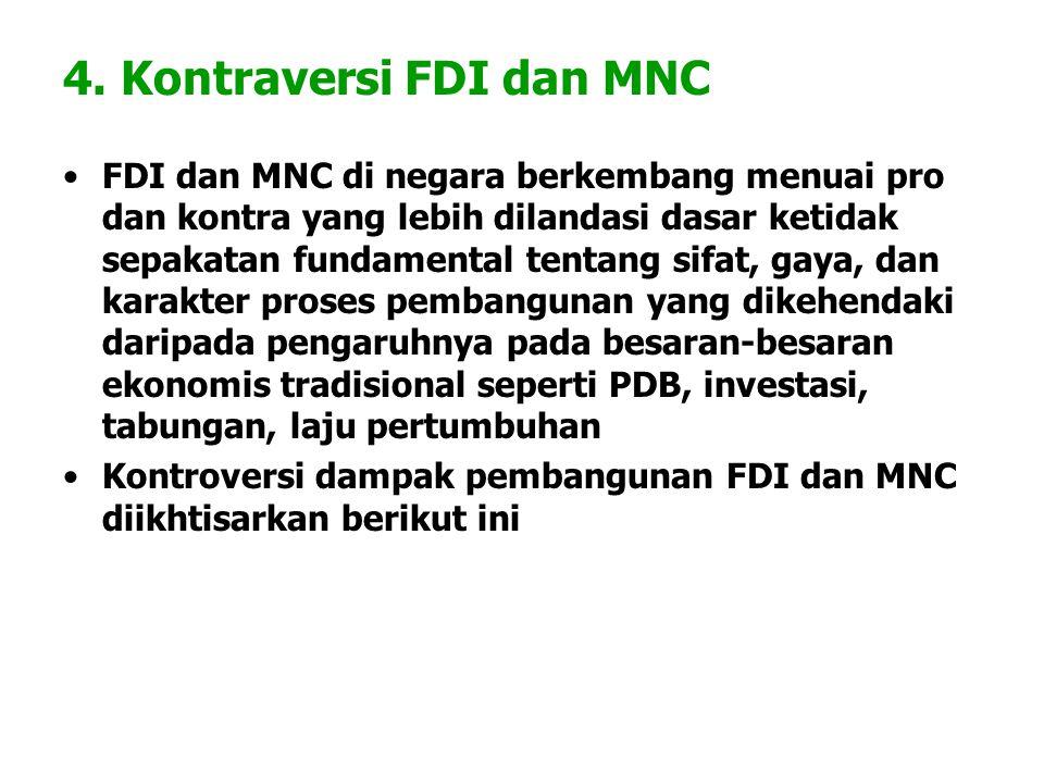 4. Kontraversi FDI dan MNC