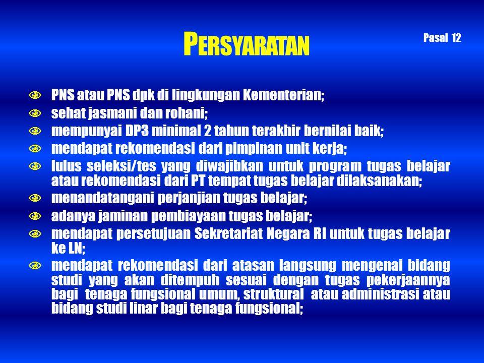 PERSYARATAN  PNS atau PNS dpk di lingkungan Kementerian;