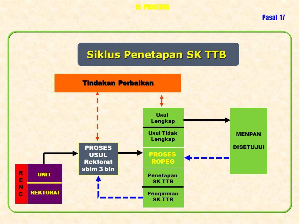 Siklus Penetapan SK TTB
