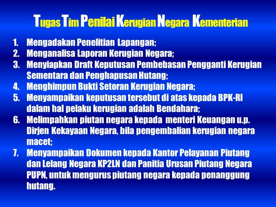 Tugas Tim Penilai Kerugian Negara Kementerian